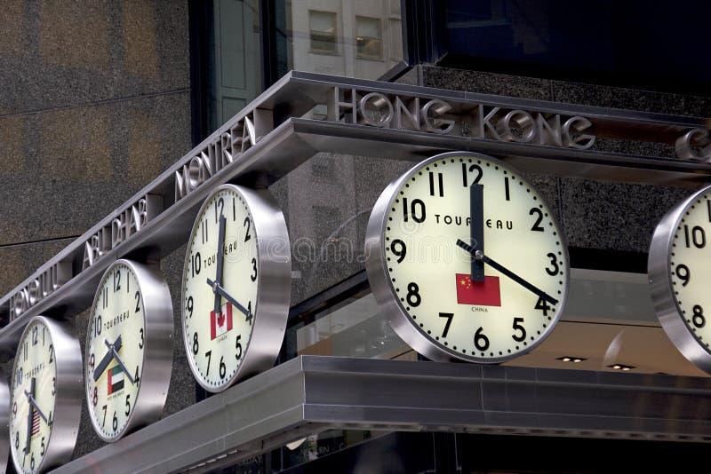 Analogue World Clocks - NYC royalty free stock image