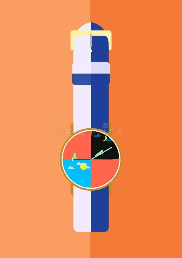 Analoog horloge royalty-vrije stock foto's