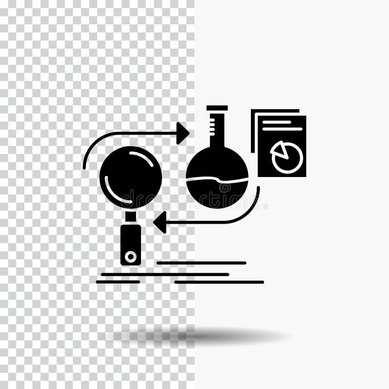 Analys affär, framkallar, utveckling, marknadsskårasymbol på genomskinlig bakgrund Svart symbol royaltyfri illustrationer