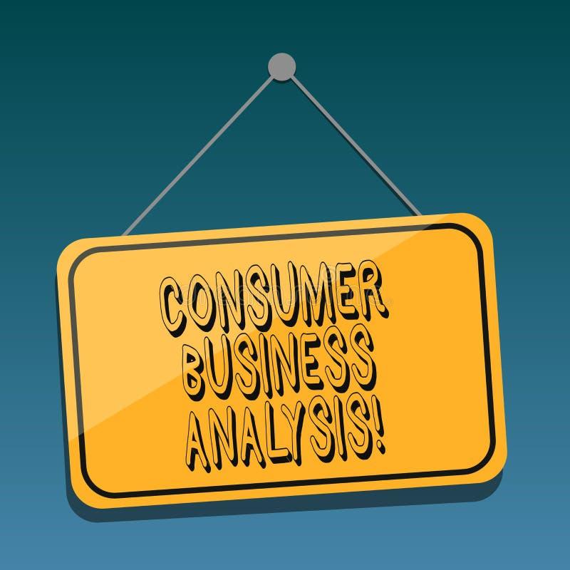 Analys för affär för handskrifttextkonsument Begreppet som mot efterkrav betyder information på målmarknaden s, är behovsmellanru royaltyfri illustrationer