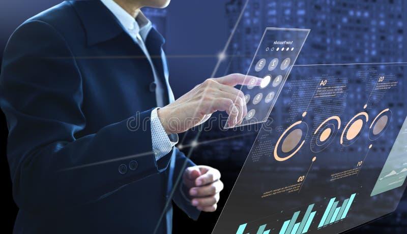 Analys för affärsinvesteringrisk royaltyfria foton