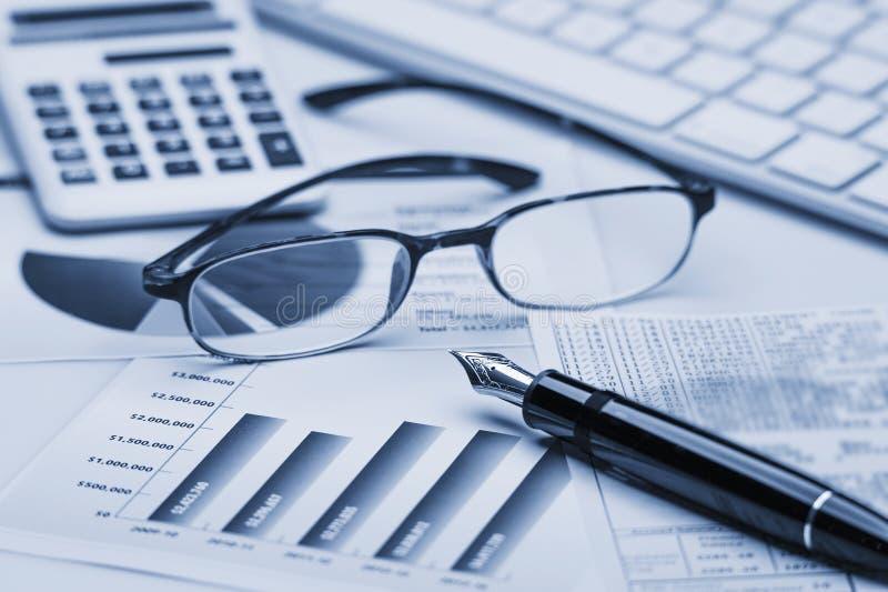 analys graphs marknadsmaterielet arkivbild