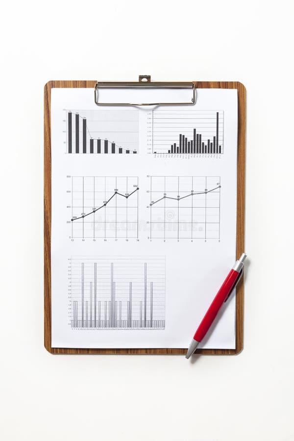 analys graphs marknadsmaterielet royaltyfri bild