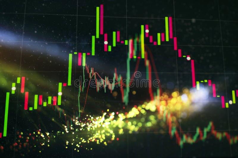 Analysaffärsredovisning på informationsark Affärsmanhand som arbetar på analysering av investeringdiagram för den guld- marknaden vektor illustrationer