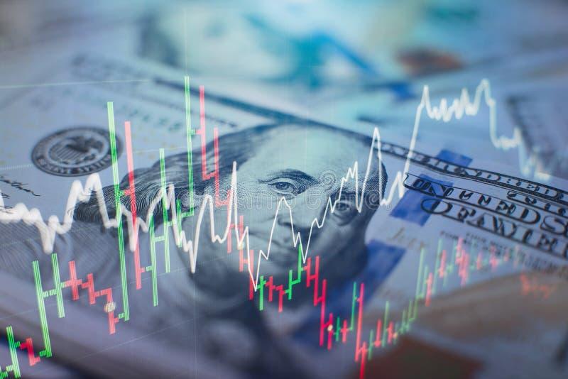 Analysaffärsredovisning på informationsark Affärsmanhand som arbetar på analysering av investeringdiagram för den guld- marknaden royaltyfri illustrationer