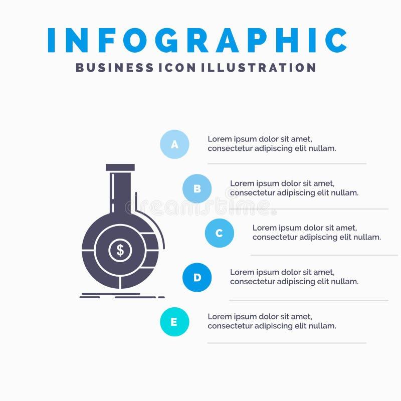 Analyse, Analytics, Bankwesen, Geschäft, Finanz-Infographics-Schablone für Website und Darstellung Graue Ikone des GLyph mit Blau vektor abbildung