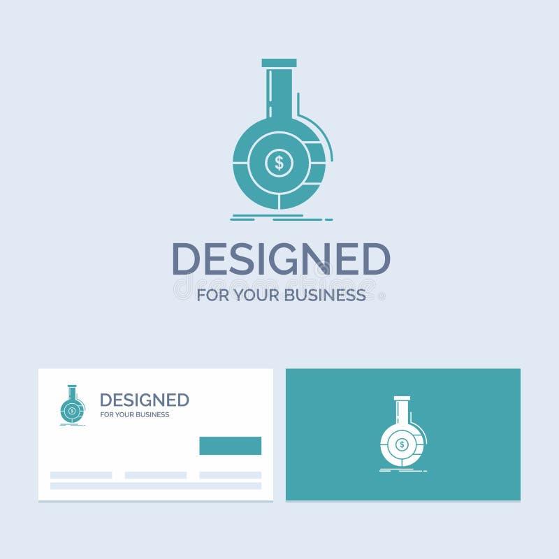 Analyse, Analytics, Bankwesen, Geschäft, Finanzgeschäft Logo Glyph Icon Symbol für Ihr Geschäft T?rkis-Visitenkarten mit vektor abbildung