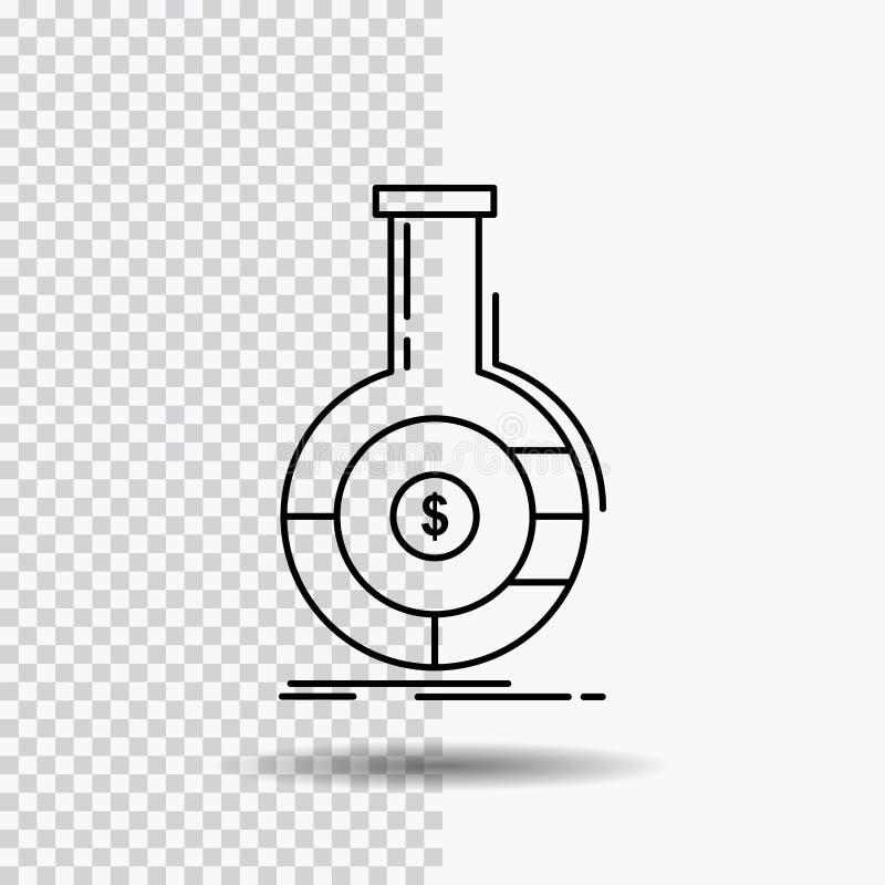 Analyse, Analytics, Bankwesen, Geschäft, Finanzlinie Ikone auf transparentem Hintergrund Schwarze Ikonenvektorillustration vektor abbildung
