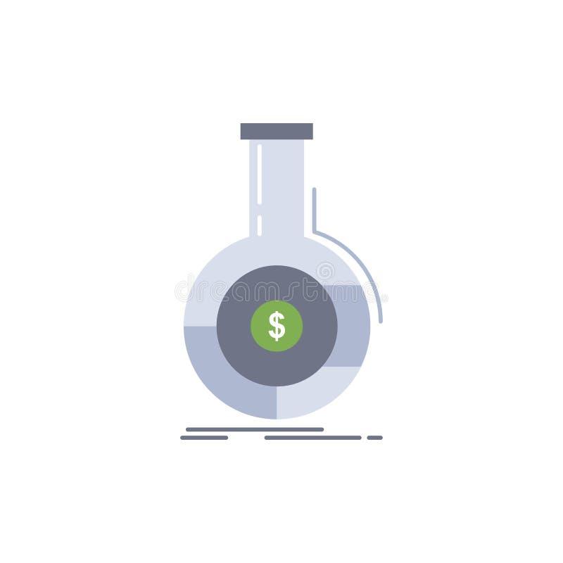 Analyse, Analytics, Bankwesen, Geschäft, flacher Farbikonen-finanziellvektor lizenzfreie abbildung