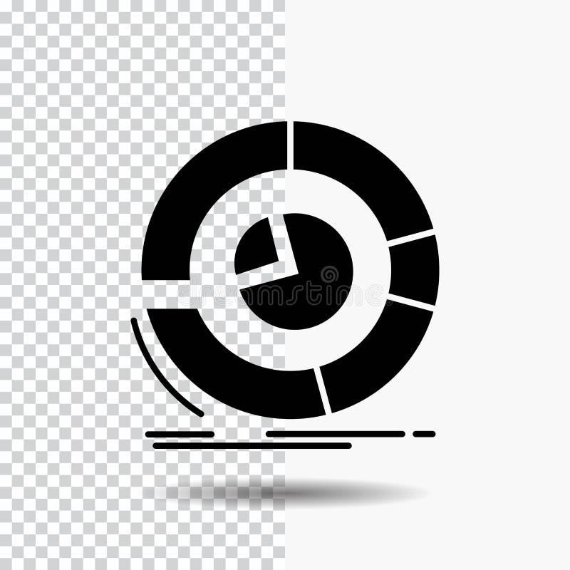 Analyse, Analytics, Geschäft, Diagramm, Kreisdiagramm Glyph-Ikone auf transparentem Hintergrund Schwarze Ikone stock abbildung