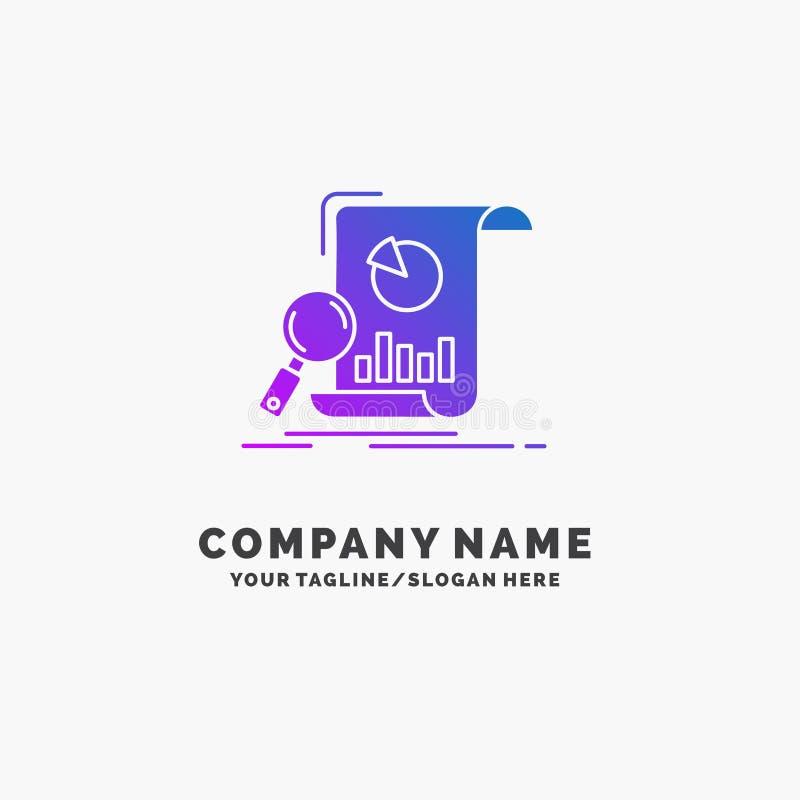 Analyse, Analytics, Geschäft, finanziell, Forschung purpurrotes Geschäft Logo Template Platz f?r Tagline lizenzfreie abbildung