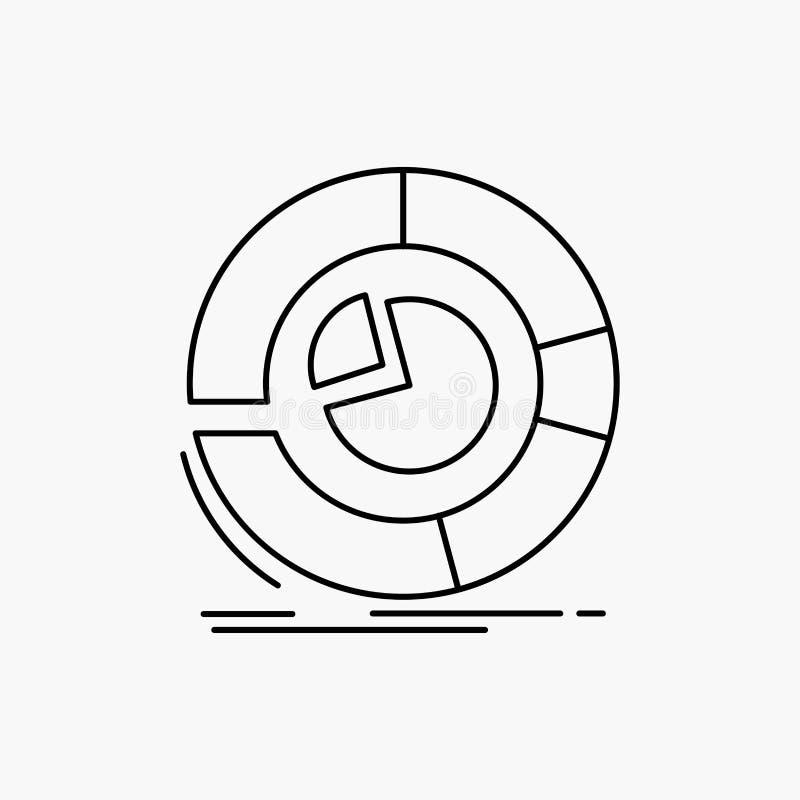 Analyse, Analytics, Gesch?ft, Diagramm, Kreisdiagramm Linie Ikone Vektor lokalisierte Illustration lizenzfreie abbildung