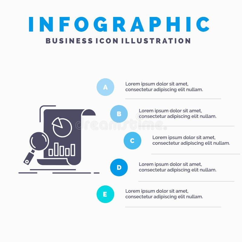 Analyse, Analytics, Gesch?ft, Finanz-, Forschung Infographics-Schablone f?r Website und Darstellung Graue Ikone des GLyph mit Bla lizenzfreie abbildung