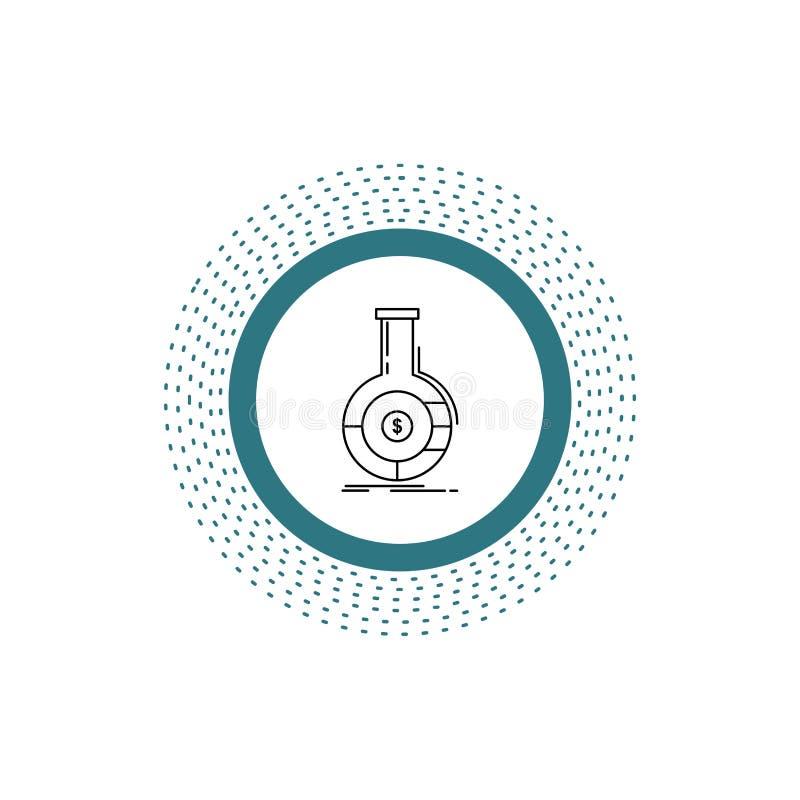 Analyse, analytics, opérations bancaires, affaires, ligne financière icône Illustration d'isolement par vecteur illustration libre de droits