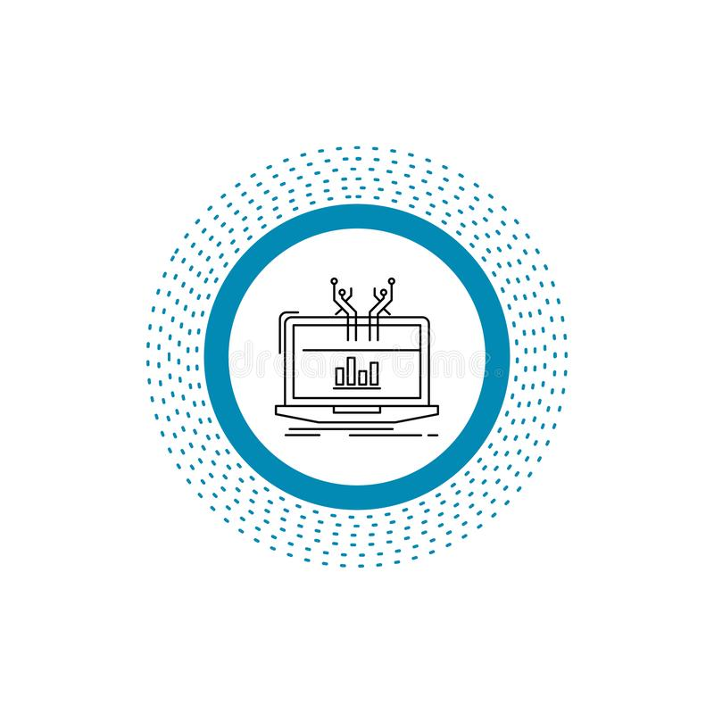 Analyse, analytisch, Management, on-line, Bahnsteiggleis Ikone Vektor lokalisierte Illustration stock abbildung