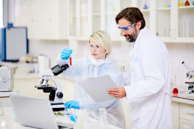 Analyse chimique photo libre de droits