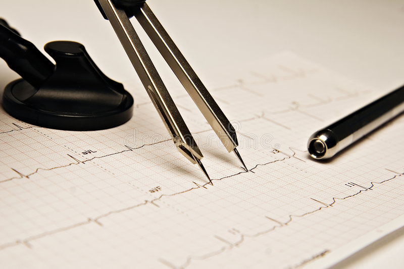 Analyse d'ECG photographie stock