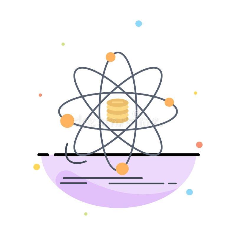 Analyse, Daten, Informationen, Forschung, Wissenschaft flacher Farbikonen-Vektor lizenzfreie abbildung