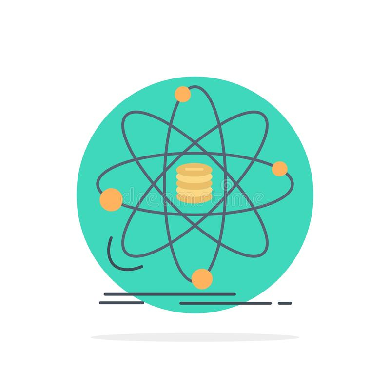 Analyse, Daten, Informationen, Forschung, Wissenschaft flacher Farbikonen-Vektor vektor abbildung