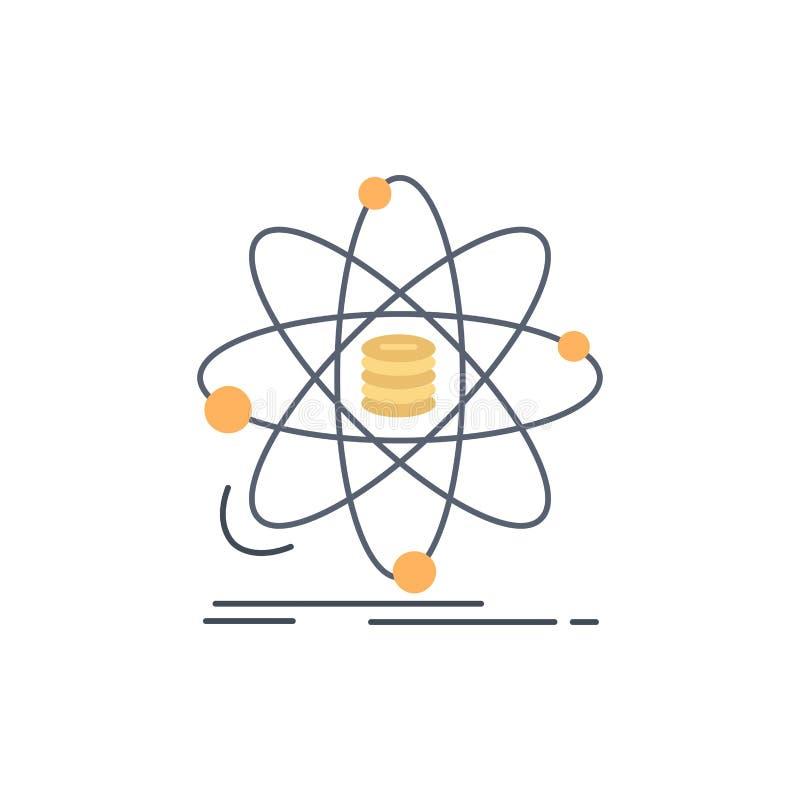 Analyse, Daten, Informationen, Forschung, Wissenschaft flacher Farbikonen-Vektor stock abbildung