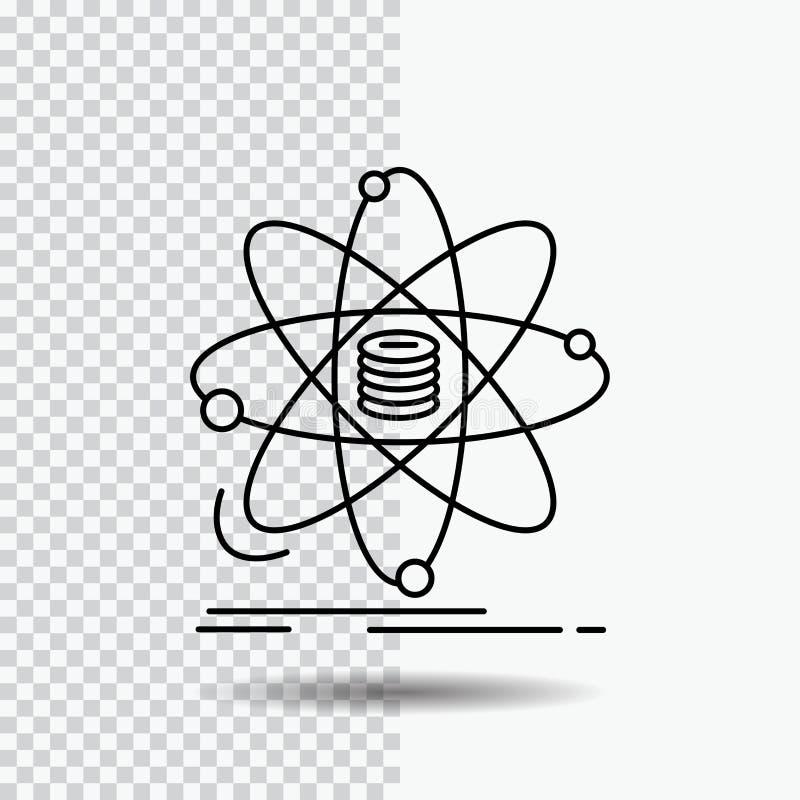 Analyse, Daten, Informationen, Forschung, Wissenschaft Linie Ikone auf transparentem Hintergrund Schwarze Ikonenvektorillustratio stock abbildung