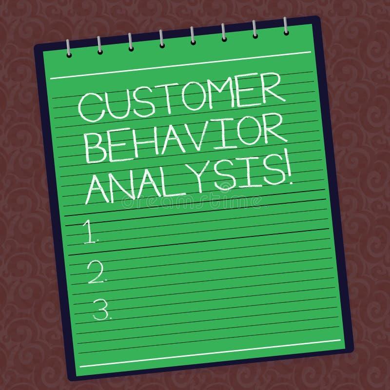 Analyse de comportement de client d'apparence de signe des textes Comportement d'achats conceptuel de photo des consommateurs que illustration stock