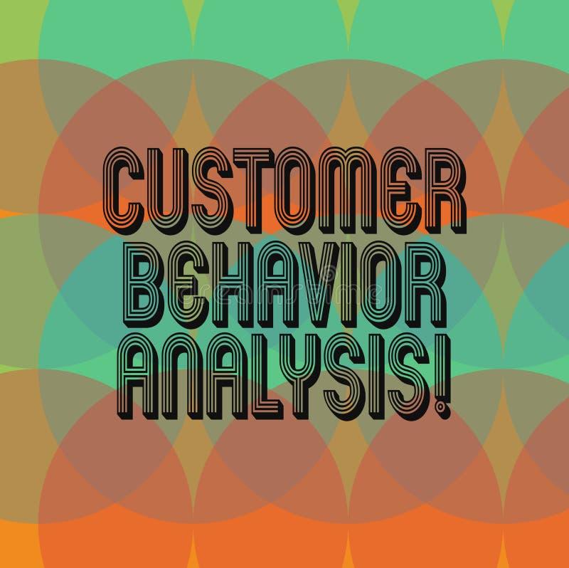 Analyse de comportement de client d'apparence de signe des textes Comportement d'achats conceptuel de photo des consommateurs qui illustration de vecteur