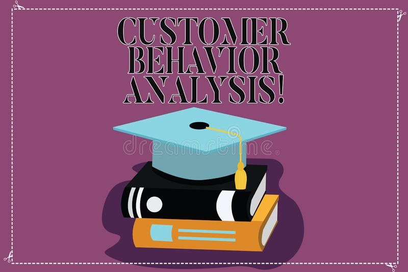 Analyse de comportement de client d'apparence de signe des textes Comportement d'achats conceptuel de photo des consommateurs qui illustration stock