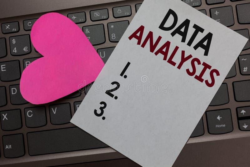 Analyse de données des textes d'écriture La signification de concept traduisent des nombres messa romantique de conclusion de pap images stock