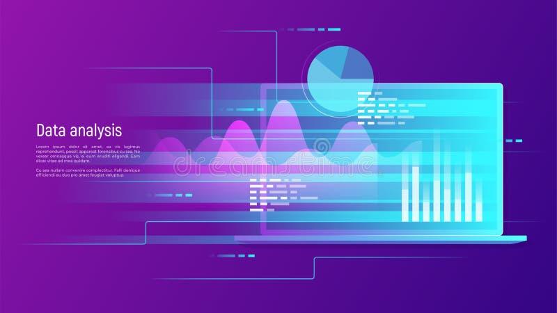 Analyse de données, recherche, audit, planification, statistiques, financières illustration libre de droits
