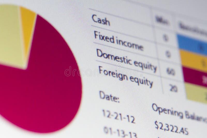Analyse de finances photos stock