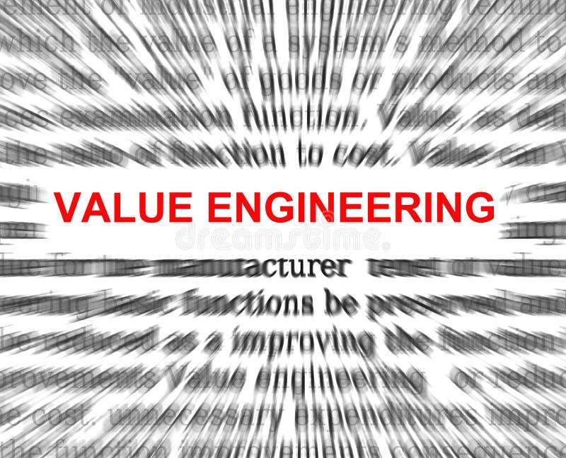 Analyse de la valeur illustration de vecteur
