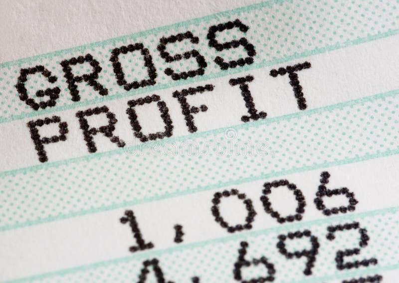 Analyse de rapport de profits et pertes d'affaires photo stock