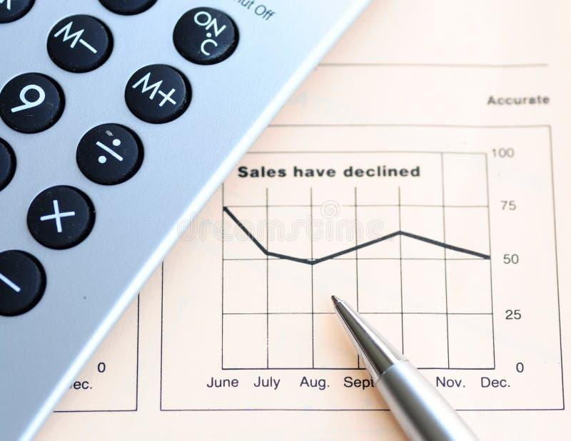 Analyse de rendement de ventes image libre de droits
