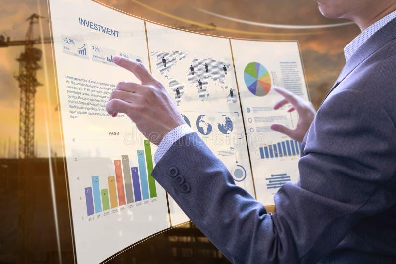 Analyse de risque d'investissement productif images libres de droits