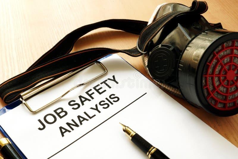 Analyse de sécurité du travail images libres de droits