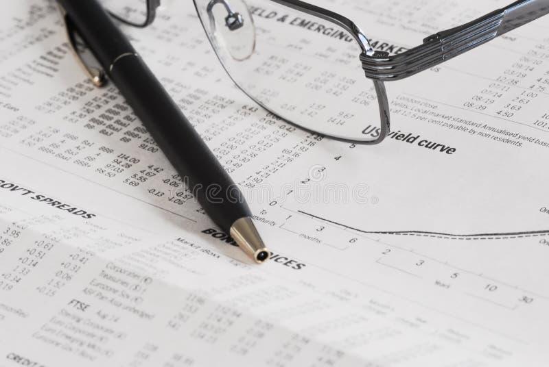 Analyse der Börse stockfoto