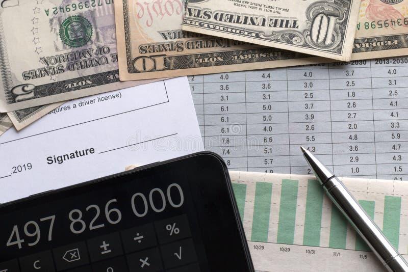 Analyse des indicateurs économiques images libres de droits