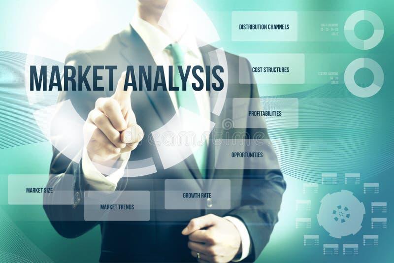 Analyse des marchés illustration libre de droits