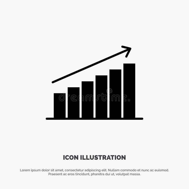 Analyse, Diagramm, Analytics, Geschäft, Diagramm, Markt, Statistiken fester Glyph-Ikonenvektor vektor abbildung