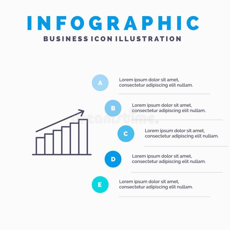 Analyse, Diagramm, Analytics, Geschäft, Diagramm, Markt, Statistiken zeichnen Ikone mit Hintergrund infographics die Darstellung  lizenzfreie abbildung