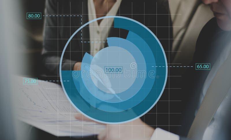 Analyse-Diagramm-Diagramm-kommerzielle Daten lizenzfreies stockfoto