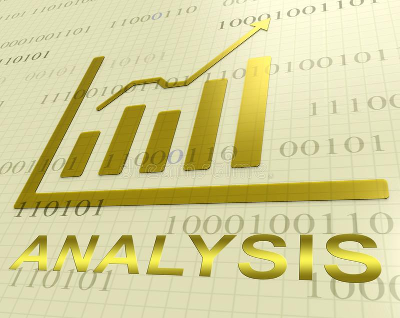 Analyse-Diagramm zeigt Wiedergabe Daten Analytics-3d vektor abbildung