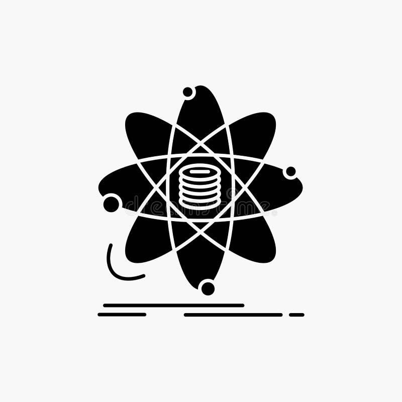 Analyse, données, l'information, recherche, icône de Glyph de la science Illustration d'isolement par vecteur illustration stock