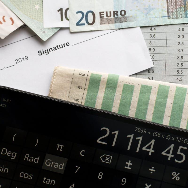 Analyse du marché afin de l'épargne d'investissement rentable photo stock