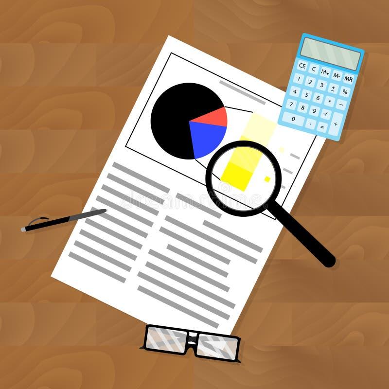 Analyse en statistiekenwerkplaats vector illustratie
