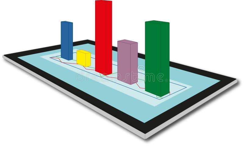 analyse Gegevensverzameling onderzoek stock illustratie
