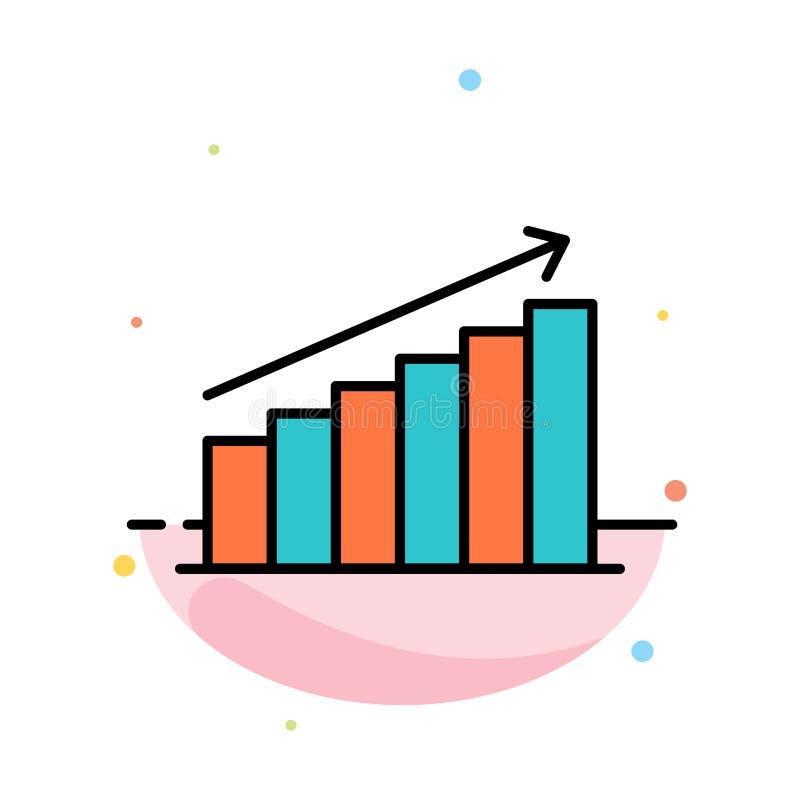Analyse, Grafiek, Analytics, Zaken, Grafiek, Markt, het Pictogrammalplaatje van de Statistieken Abstract Vlak Kleur vector illustratie