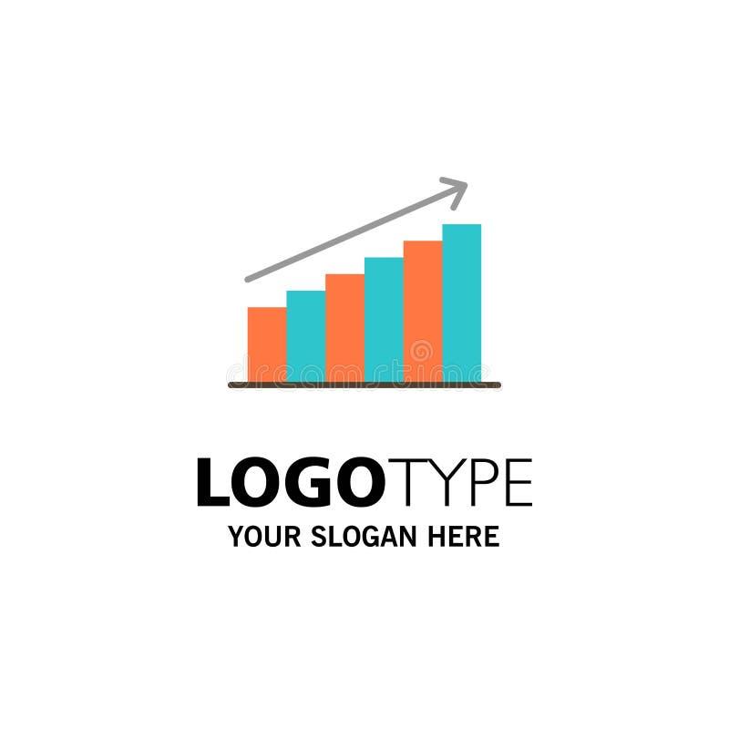Analyse, Grafiek, Analytics, Zaken, Grafiek, Markt, Statistiekenzaken Logo Template vlakke kleur stock illustratie