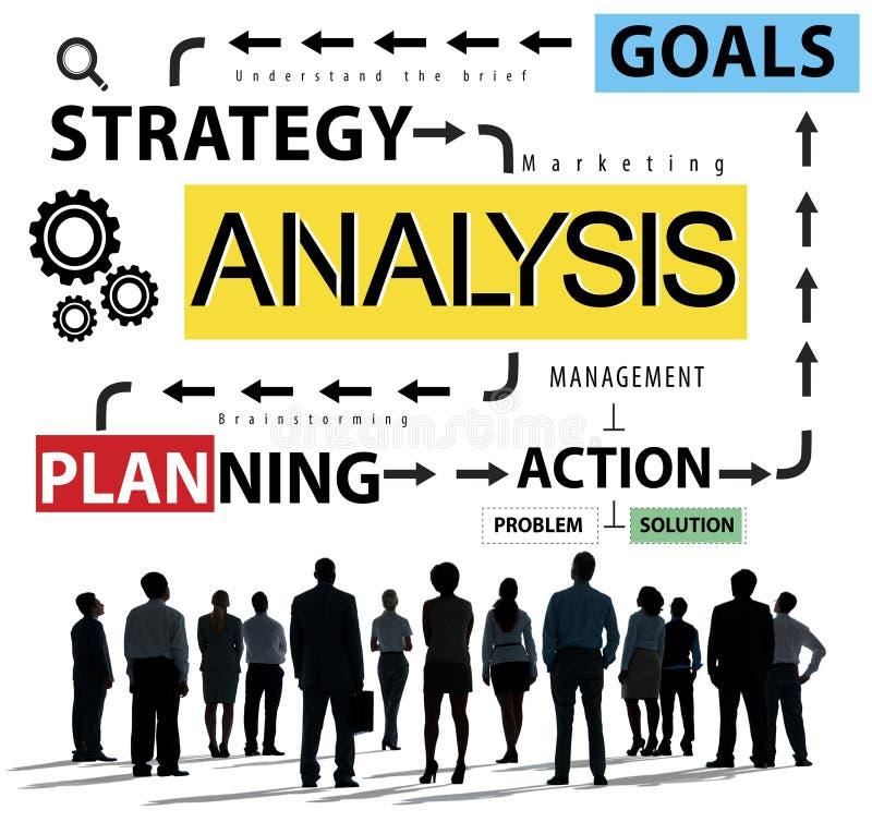 Analyse-Informations-Daten, die Strategy Analytics-Konzept planen stock abbildung